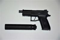 CZ P-07 se závitem, 9mm Luger. Určeno pouze pro výcvik ozbrojených složek!