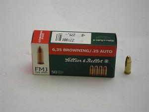 ARMYARMS.cz nabízí: SB 6,35 Brow. FMJ 3,3g/50grs