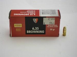 FIOCCHI 6,35 Brow. FMJ 50 gr