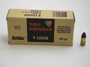ARMYARMS.cz nabízí: FIOCCHI 9 Luger FMJTC 100 grs BLACK MAMBA