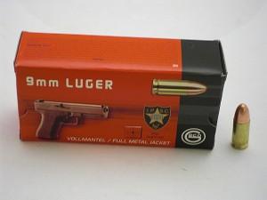 ARMYARMS.cz nabízí: GECO 9 Luger FMJ 8g/124grs