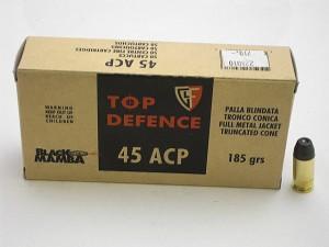 ARMYARMS.cz nabízí: FIOCCHI 45 ACP FMJTC 185 grs BLACK MAMBA