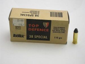 ARMYARMS.cz nabízí: FIOCCHI 38 Spec. FMJTC 110grs BLACK MAMBA