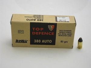 ARMYARMS.cz nabízí: FIOCCHI 380 AUTO (9 Brow.) FMJTC 85grs BLACK MAMBA
