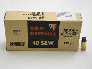 ARMYARMS.cz nabízí: FIOOCHI 40 S&W FMJTC 135grs BLACK MAMBA