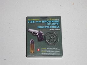 LIBRA 7,65 BROW. SHOT SHELL (broková střela)