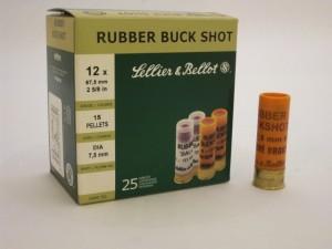 ARMYARMS.cz nabízí: SB 12/67,5  RUBBER BUCK SHOT (pryžové broky)