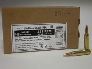 ARMYARMS.cz nabízí: SB 223 REM. FMJ (5,56x45 mm) 3,6g/5,5grs