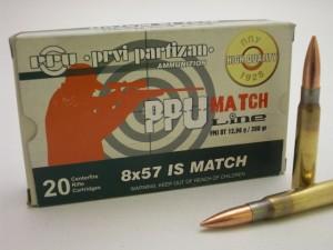ARMYARMS.cz nabízí: PPU 8x57 IS MATCH FMJ BT 12,96g