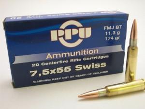 ARMYARMS.cz nabízí: PPU 7,5x55 SWISS