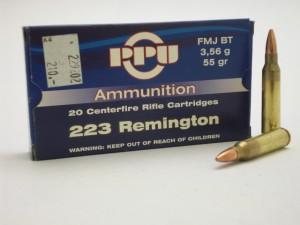 PPU 223 REM. FMJ BT 3,56g/55gr