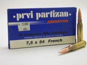 ARMYARMS.cz nabízí: PPU 7,5x54 FRENCH FMJ 139gr