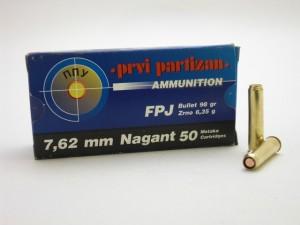 ARMYARMS.cz nabízí: PPU 7,62 mm NAGANT FPJ 6,35g/98gr