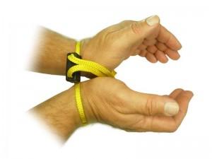 ESP - Jednorázová textilní pouta – žlutá, sada po 5 kusech