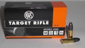 Náboj 22 LR Target rifle 2,6g/40gr