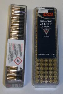 Náboj CCI SUB-SONIC 22 LR HP