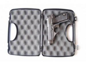 Plastový kufr na pistoli 23,5cm x 16cm x 4,6cm