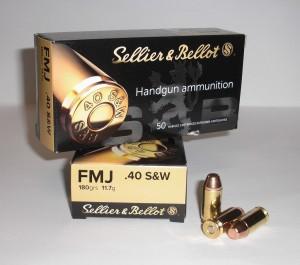 Náboj SB 40 SW FMJ 11,7g, 180grs