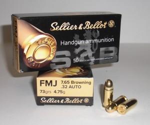 ARMYARMS.cz nabízí: SB 7,65 Brow. FMJ 4,75g/73grs