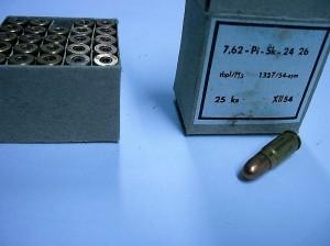 ARMYARMS.cz nabízí: Školní náboj 7,62x25TT - 1 ks
