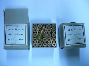 ARMYARMS.cz nabízí: Školní náboj 7,62x25 TT - 25 ks