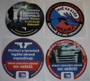 ARMYARMS.cz nabízí: SAMOLEPKY - BOJ PROTI REGULACI ZBRANÍ EU