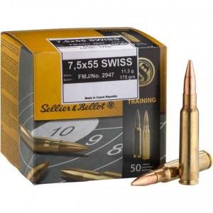 ARMYARMS.cz nabízí: SB 7,5x55 Swiss FMJ 174grs 11,3g